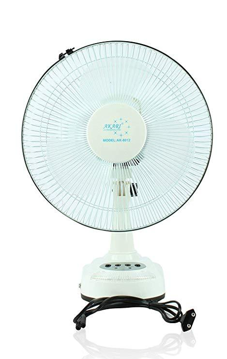 Image result for 8. Akari Ak-8012 12″ Rechargeable Ac/Dc Table Fan